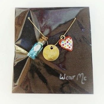 An Alice In Wonderland inspired charm necklace! .  Free tutorial with pictures on how to make a vial in under 35 minutes by jewelrymaking and metalworking with metal blank, metal stamping kit, and necklace chain. Inspired by alice in wonderland. How To posted by Cat Morley.  in the Jewelry section Difficulty: Simple. Cost: Cheap. Steps: 10