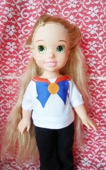 Sailor Venus Doll shirt .  Make a t-shirt in under 15 minutes using shirt, heat transfer paper, and clothes iron. Inspired by disney, anime & manga, and sailor moon. Creation posted by Luna.  in the Decorating section Difficulty: Easy. Cost: Cheap.