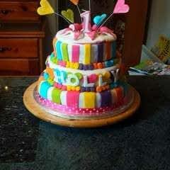 Heart Burst Birthday Cake