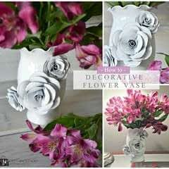 Create A Decorative Flower Vase... With Paper!