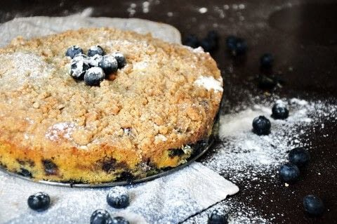 A buttery, blueberry-filled cake with the most incredible crumble. .  Free tutorial with pictures on how to bake a cake in under 60 minutes by cooking and baking with baking powder, salt, and lemon. Inspired by cake and berry. Recipe posted by Cathy C.  in the Recipes section Difficulty: 3/5. Cost: 3/5. Steps: 7