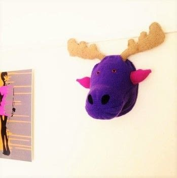 Faux Taxidermy Moose .  Make a taxidermy mount by yarncrafting and knitting with book, knitting yarn, and felt. Creation posted by rainbowjo86.  in the Yarncraft section Difficulty: 4/5. Cost: 4/5.