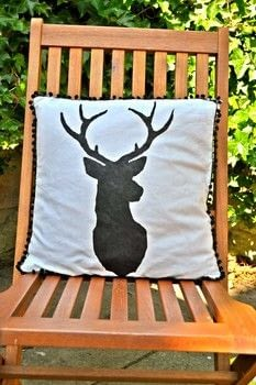 .  Free tutorial with pictures on how to make a painted cushion in under 180 minutes by decorating, embellishing, screen printing, stencilling, sewing, hand sewing, and machine sewing with paper, acrylic paint, and craft knife. Inspired by animals and deer. How To posted by Eleanor.  in the Sewing section Difficulty: 3/5. Cost: Cheap. Steps: 6