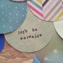 """Let's Be Mermaids"" Papercraft Wall Art"