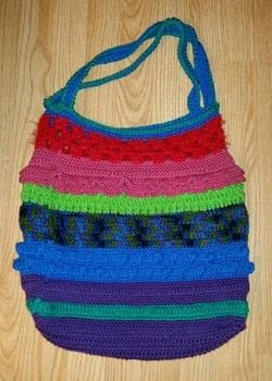 Great way to use up scraps! .  Make a knit or crochet tote by yarncrafting and crocheting with crochet hook and acrylic yarn. Creation posted by Gypsy O.  in the Yarncraft section Difficulty: 3/5. Cost: No cost.