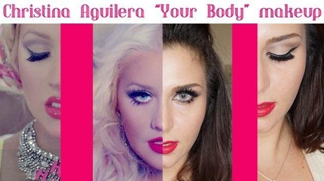 """Christina aguilera 'your body"""" makeup video tutorial 9/28/14."""