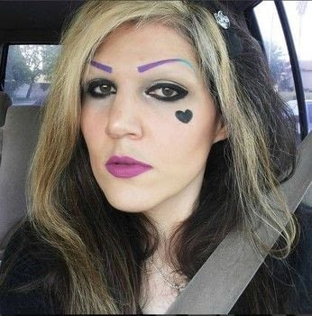 I wear black so I can rock all these colors on my face!  .  Makeover an eyebrow in under 5 minutes using eyeliner pencil. Creation posted by missmuffcake.  in the Beauty section Difficulty: Simple. Cost: Absolutley free.