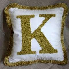 Monogram Block Letter Pillow