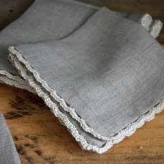 Crochet Edged Linen Cocktail Napkins Tutorial