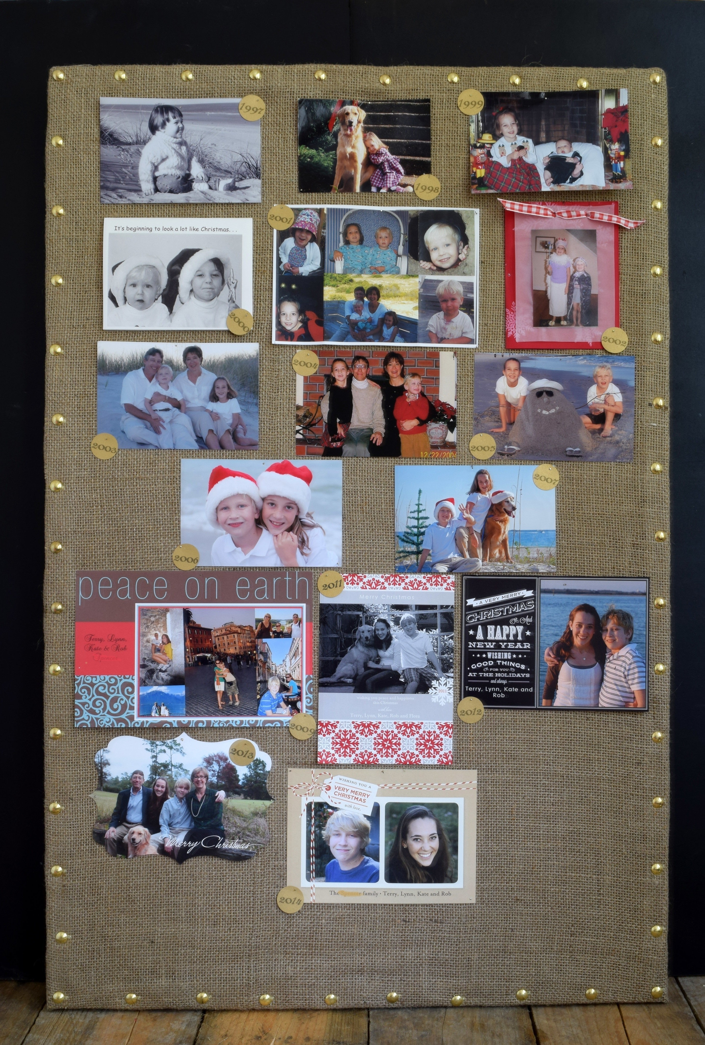 Nailhead Trim Burlap Bulletin Board 183 How To Make A