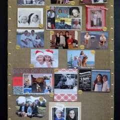 Nailhead Trim Burlap Bulletin Board
