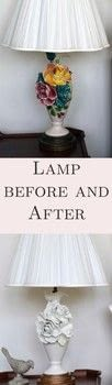 Use spray paint to update an old lamp .  Free tutorial with pictures on how to make a lamp / lampshade in under 120 minutes by decorating with lamp, spray paint, and rub n buff . How To posted by Nourish and Nestle.  in the Decorating section Difficulty: Easy. Cost: Absolutley free. Steps: 4