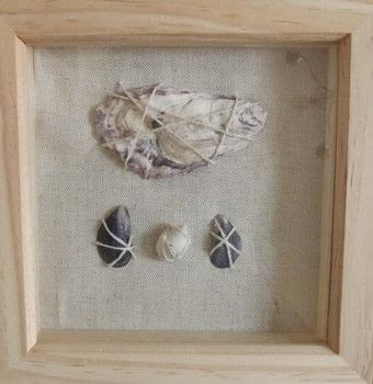 Pretty frames and shells collected on holiday combined to make bathroom art! .  Make a shell photo frame in under 120 minutes by decorating and embellishing with frames, shell, and sea glass. Creation posted by Helen W.  in the Home + DIY section Difficulty: Easy. Cost: Cheap.