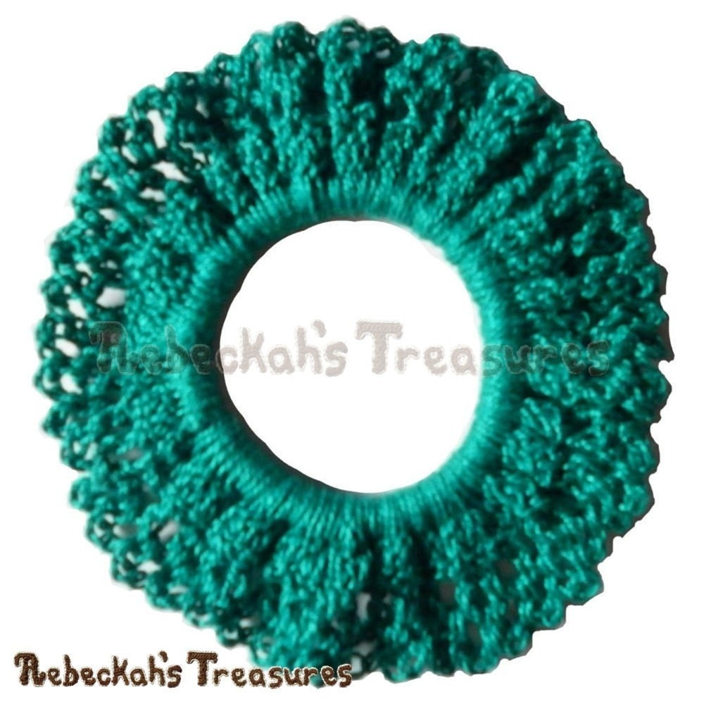 Easy Crochet Scrunchy · How To Make A Bobble / Tie · Yarncraft on ...