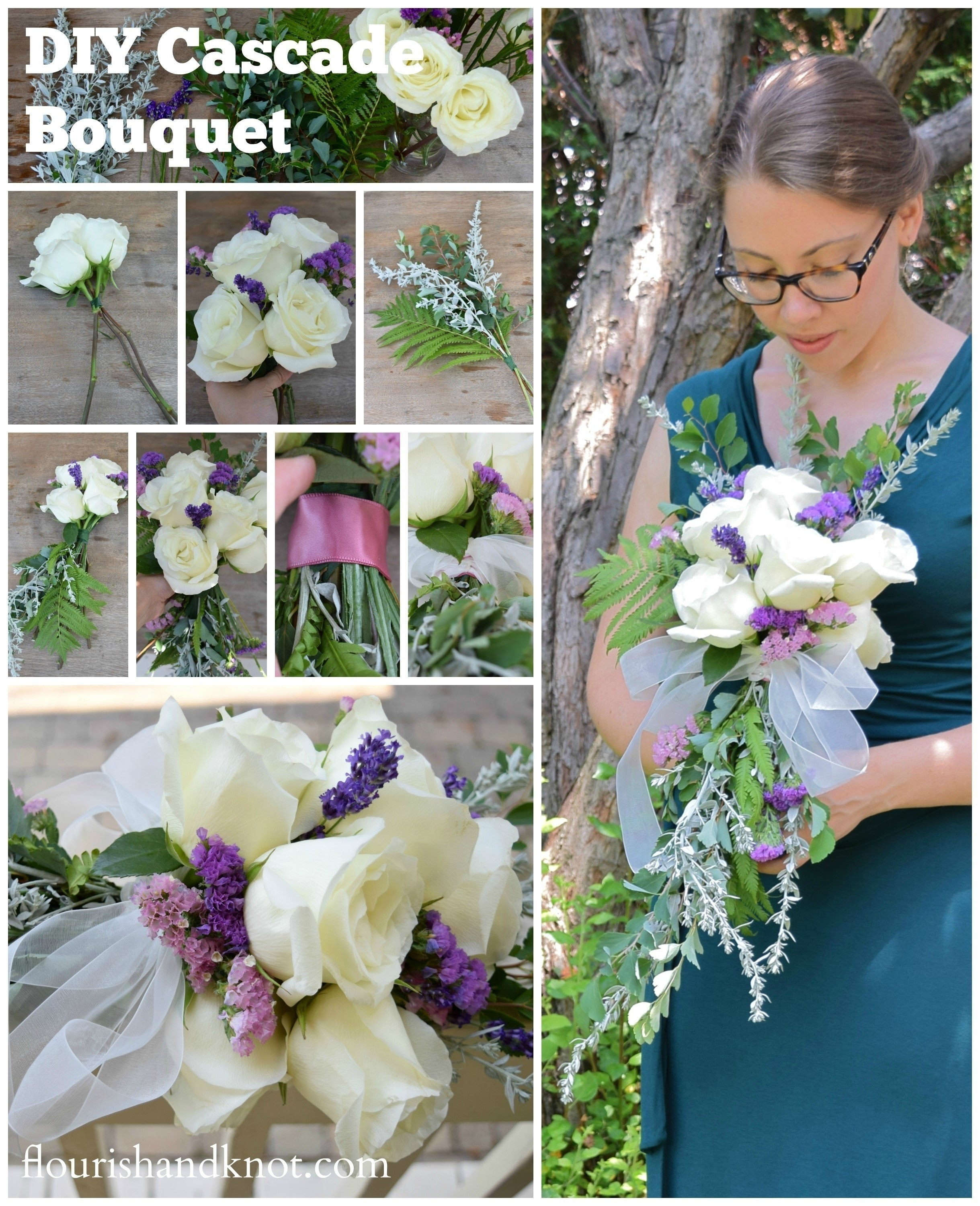 making wedding bouquets diy cascade bouquet 183 how to make a bouquet 183 other on cut 5679