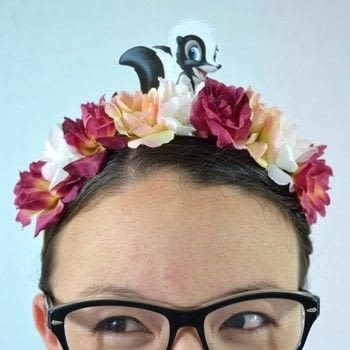 Dress to impress for your next trip to the Disney Resort! .  Free tutorial with pictures on how to make a flower crown in under 15 minutes by jewelrymaking with hot glue gun, hair band, and hot glue. Inspired by bambi. How To posted by CozyReverie.  in the Art section Difficulty: Easy. Cost: Cheap. Steps: 4