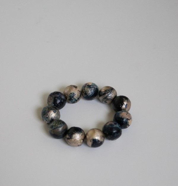 260f48a6ee6ba Marbleized Wood Bead Bracelet · How To Bead A Wooden Bead Bracelet ...
