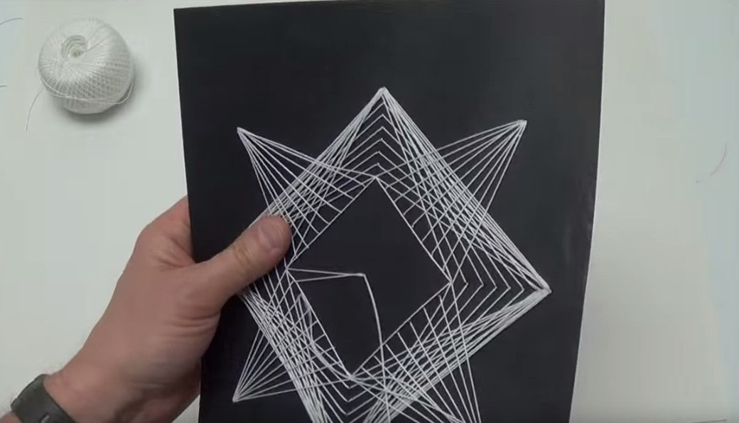 Geometric String Art How To Make String Art Art On Cut Out