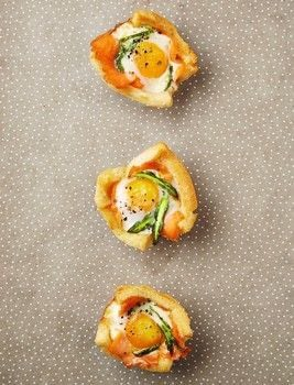 Posh Toast .  Free tutorial with pictures on how to cook an egg cup in under 35 minutes by cooking and baking with bread, butter, and salmon. Recipe posted by Quadrille.  in the Recipes section Difficulty: Simple. Cost: Cheap. Steps: 3