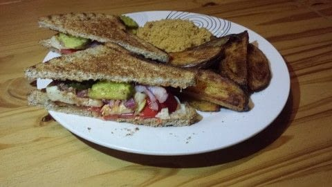 Cook up a super quick and yummy veggie grilled sandwich!  .  Free tutorial with pictures on how to grill a sandwich in under 30 minutes by cooking with red pepper, halloumi, and red onion. Recipe posted by SteffyB.  in the Recipes section Difficulty: Easy. Cost: Cheap. Steps: 5