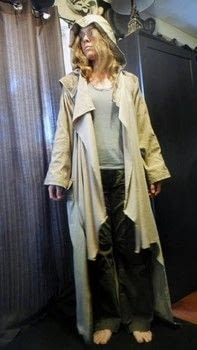 Full coverage from the desert sun .  Make a trench / mac using fabric scraps, sewing machine, and notions. Creation posted by Lisa D.  in the Sewing section Difficulty: 3/5. Cost: Absolutley free.