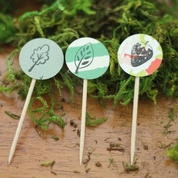 Diy cupcake toppers  .  Free tutorial with pictures on how to make a party planning in under 10 minutes using toothpick, scrapbook, and  circle cutter. How To posted by Suzie S.  in the Decorating section Difficulty: Easy. Cost: Absolutley free. Steps: 3