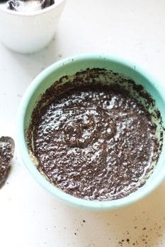Makes your skin feel SO smooth!! .  Free tutorial with pictures on how to make a coffee scrub in under 10 minutes by making beauty products with coconut oil and ground coffee. How To posted by Suzie S.  in the Beauty section Difficulty: Easy. Cost: Cheap. Steps: 3
