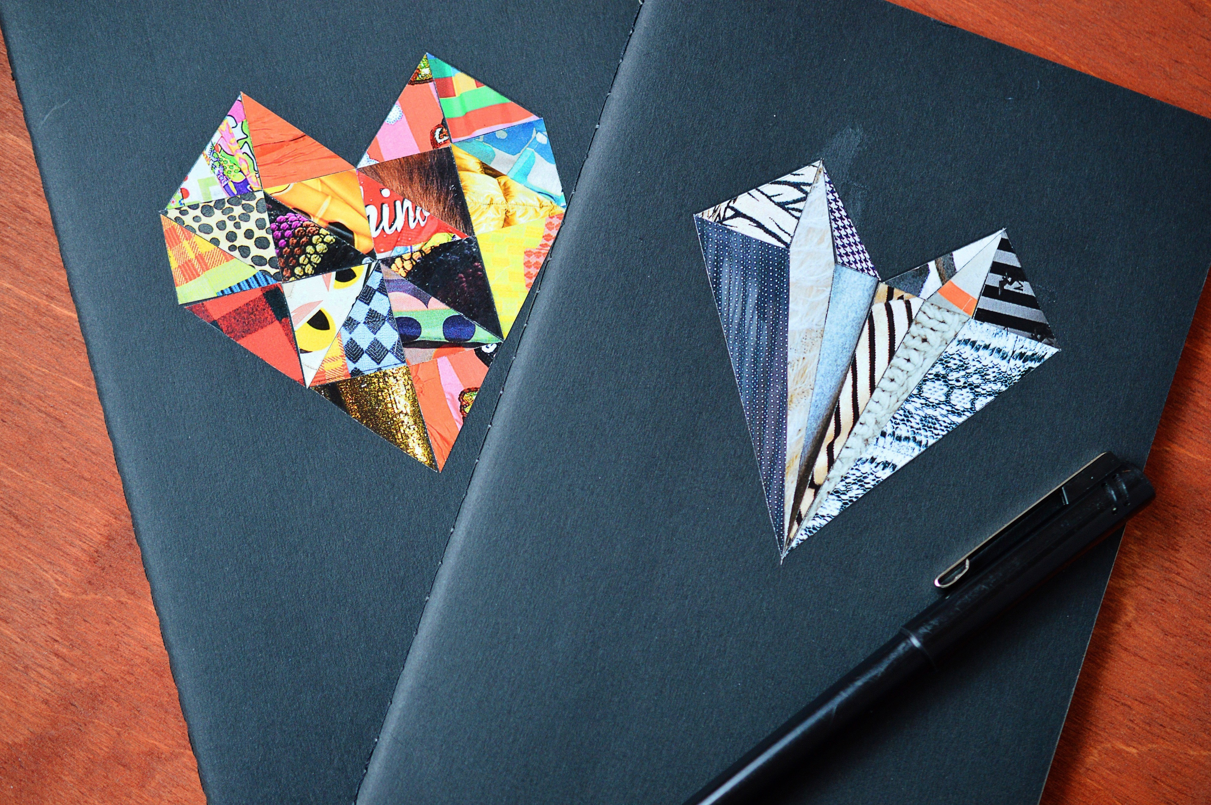 Creative Design To Cover Notebook ~ Notebook cover: fashion magazine collage · how to make a paper book