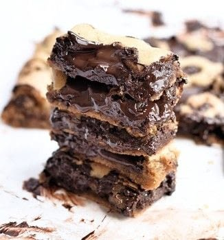 Soft, gooey, easy chocolate chip bars made without butter! .  Free tutorial with pictures on how to bake a bar / slice in under 25 minutes by baking and cooking with light brown sugar, sugar, and oil. Recipe posted by Truffles and Trends.  in the Recipes section Difficulty: Easy. Cost: Cheap. Steps: 1