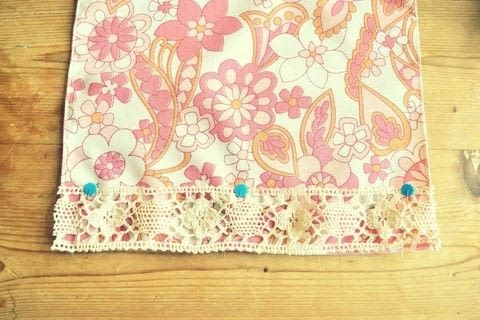 .  Free tutorial with pictures on how to make a napkin / napkin ring in under 45 minutes by sewing and machine sewing with sewing machine, fabric scissors, and lace. Inspired by vintage & retro. How To posted by Adventures and Tea Parties.  in the Sewing section Difficulty: Easy. Cost: Cheap. Steps: 6
