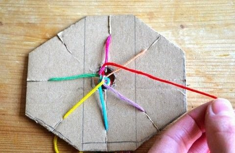 Gift wrap ribbon .  Free tutorial with pictures on how to make a gift bow in under 60 minutes by braiding with card, paper scissors, and embroidery thread. How To posted by Adventures and Tea Parties.  in the Other section Difficulty: Easy. Cost: Cheap. Steps: 10
