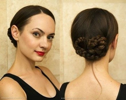 Upgrade Your Low Bun .  Free tutorial with pictures on how to style a braided bun in under 10 minutes by hairstyling with hairpin, hair elastic, and haircomb. How To posted by Katya Bychkova.  in the Beauty section Difficulty: Easy. Cost: No cost. Steps: 5