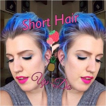 Short Hair Up-Do .  Free tutorial with pictures on how to style an updo hairstyle in under 20 minutes by hairstyling with flat iron, hairspray, and dry shampoo. How To posted by awesomebrittnie .  in the Beauty section Difficulty: Easy. Cost: Absolutley free. Steps: 1