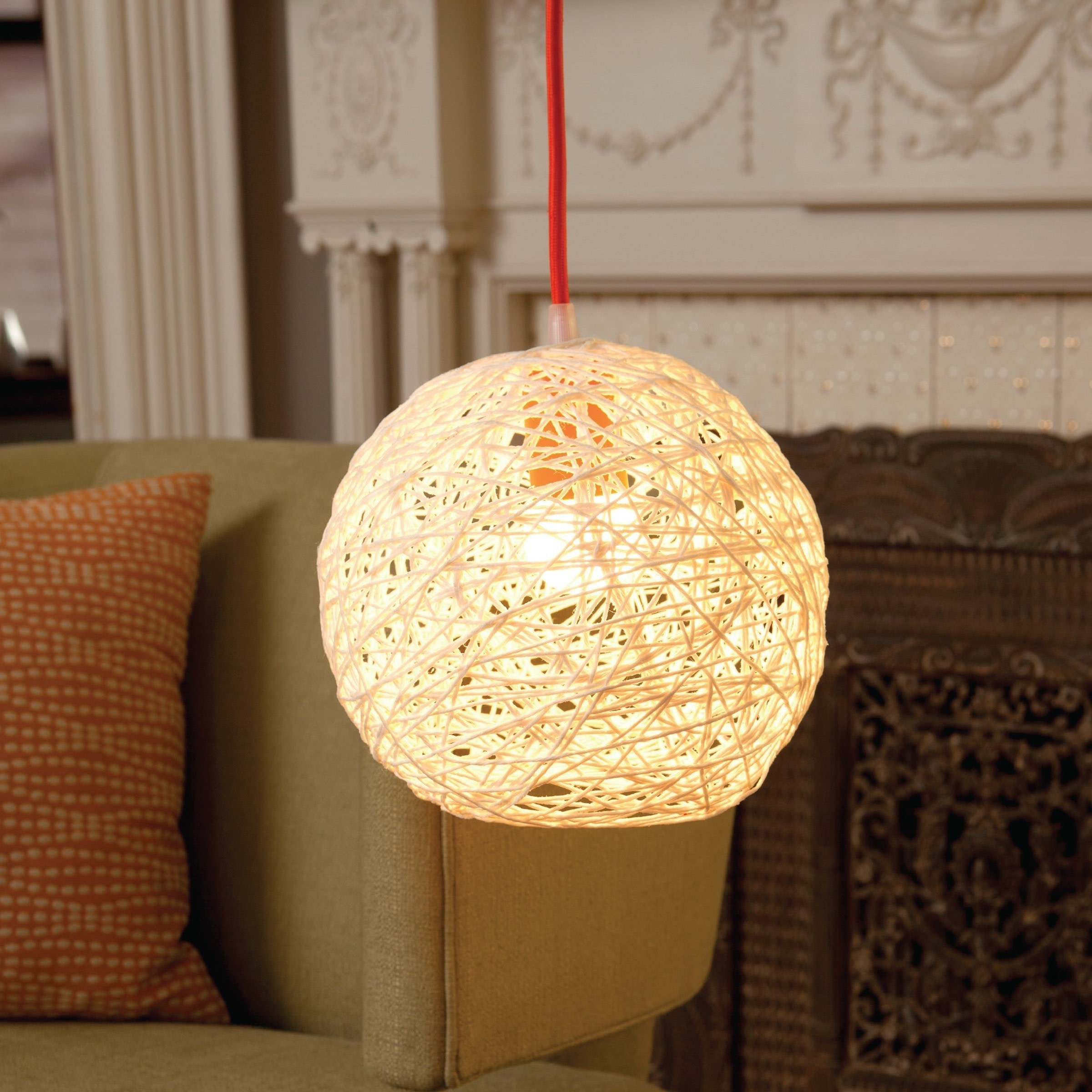 String Art Lampshade · Extract from Knitless by Laura McFadden · How ... for Craft Lamp Making  76uhy