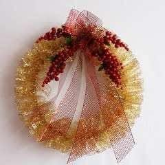 Punchenello Wreath (Honey Comb Wreath)