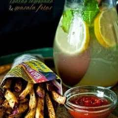 Indian Lemonade and Masala Fries