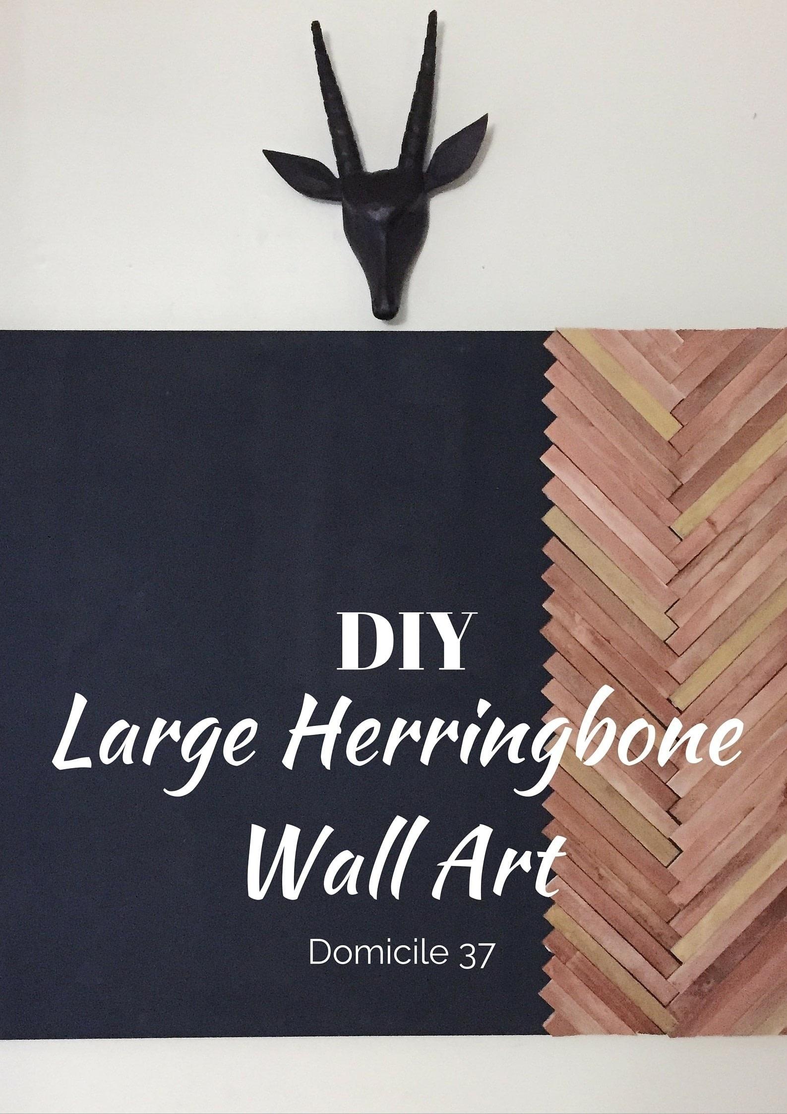 Create A Large Wall Art Using The Herringbone Pattern