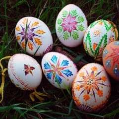 Slovak Hand Painted Easter Eggs