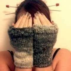 Nice And Easy Fingerless Mittens