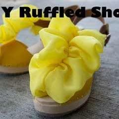 Revamped Ruffled Chiffon Shoes