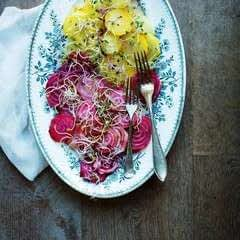 Red Yellow Beetroot Salad With Radish, Beetroot & Brocolli Sprouts
