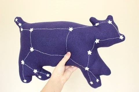 A starry plush friend. .  Free tutorial with pictures on how to make a bear plushie in under 180 minutes by hand sewing and machine sewing with thread, glue, and stuffing. How To posted by Lauren.  in the Needlework section Difficulty: Simple. Cost: Cheap. Steps: 1