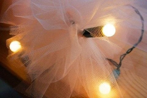A sweet way to brighten up any dull space.  .  Free tutorial with pictures on how to make fairy lights in under 30 minutes by decorating with string lights and tulle. How To posted by MagicalGirlMaya.  in the Decorating section Difficulty: Easy. Cost: Absolutley free. Steps: 2