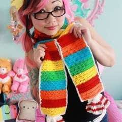 Rainbow Tart Candy Scarf