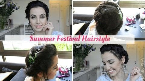 3 simple boho chic hairstyles that are perfect for festivals!  .  Free tutorial with pictures on how to style a braid / plait in under 5 minutes by hairstyling with crown. Inspired by summer holidays, flowers, and festivals. How To posted by Shiba Style.  in the Beauty section Difficulty: Simple. Cost: No cost. Steps: 4