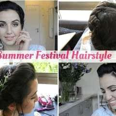 3 Summer Festival Hairstyles  Easy & Fast!