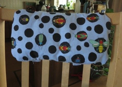 Cushion for child's chair .  Make a bed headboard in under 60 minutes by sewing with material, fusible interfacing, and toy stuffing . Creation posted by Gemma T.  in the Sewing section Difficulty: 3/5. Cost: Cheap.