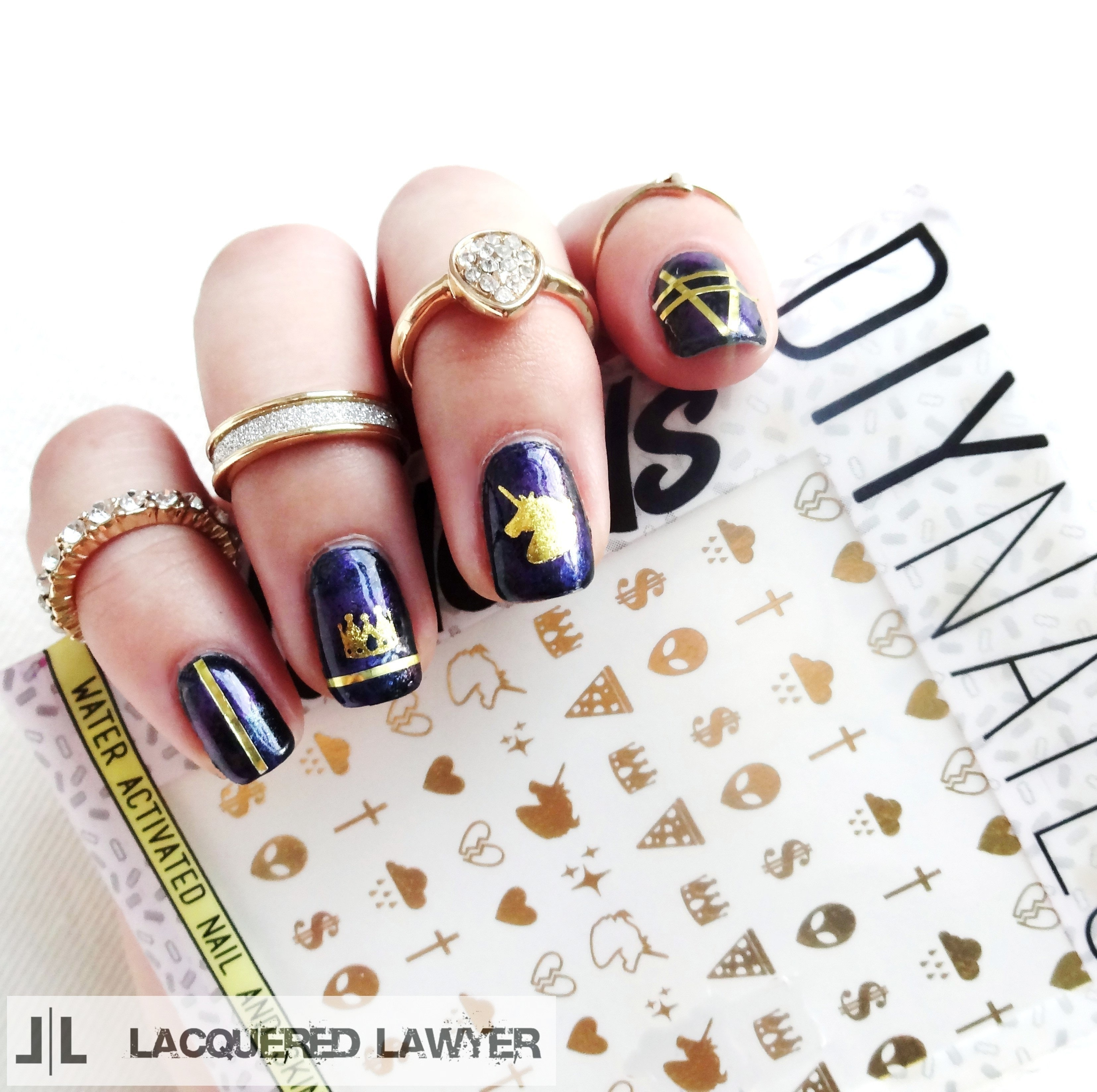 Unicorn Galaxy · How To Paint Patterned Nail Art · Beauty on Cut Out ...