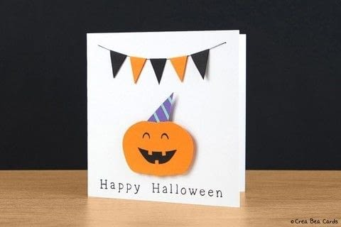 Create this Very Happy Halloween card .  Free tutorial with pictures on how to make a greetings card in under 60 minutes by papercrafting and cardmaking with art, cutting mat, and pencil. Inspired by halloween and pumpkins. How To posted by Crea Bea Cards.  in the Papercraft section Difficulty: 3/5. Cost: Cheap. Steps: 1