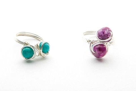Simple Statement Rings .  Free tutorial with pictures on how to make a wire ring in under 25 minutes by jewelrymaking and wireworking with wire, jasper beads, and mandrel. How To posted by Search Press.  in the Jewelry section Difficulty: Simple. Cost: Cheap. Steps: 7